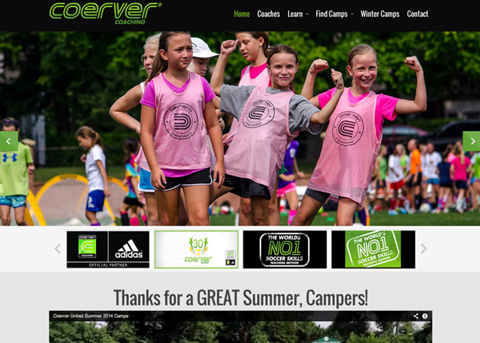 Coerver United Web Design