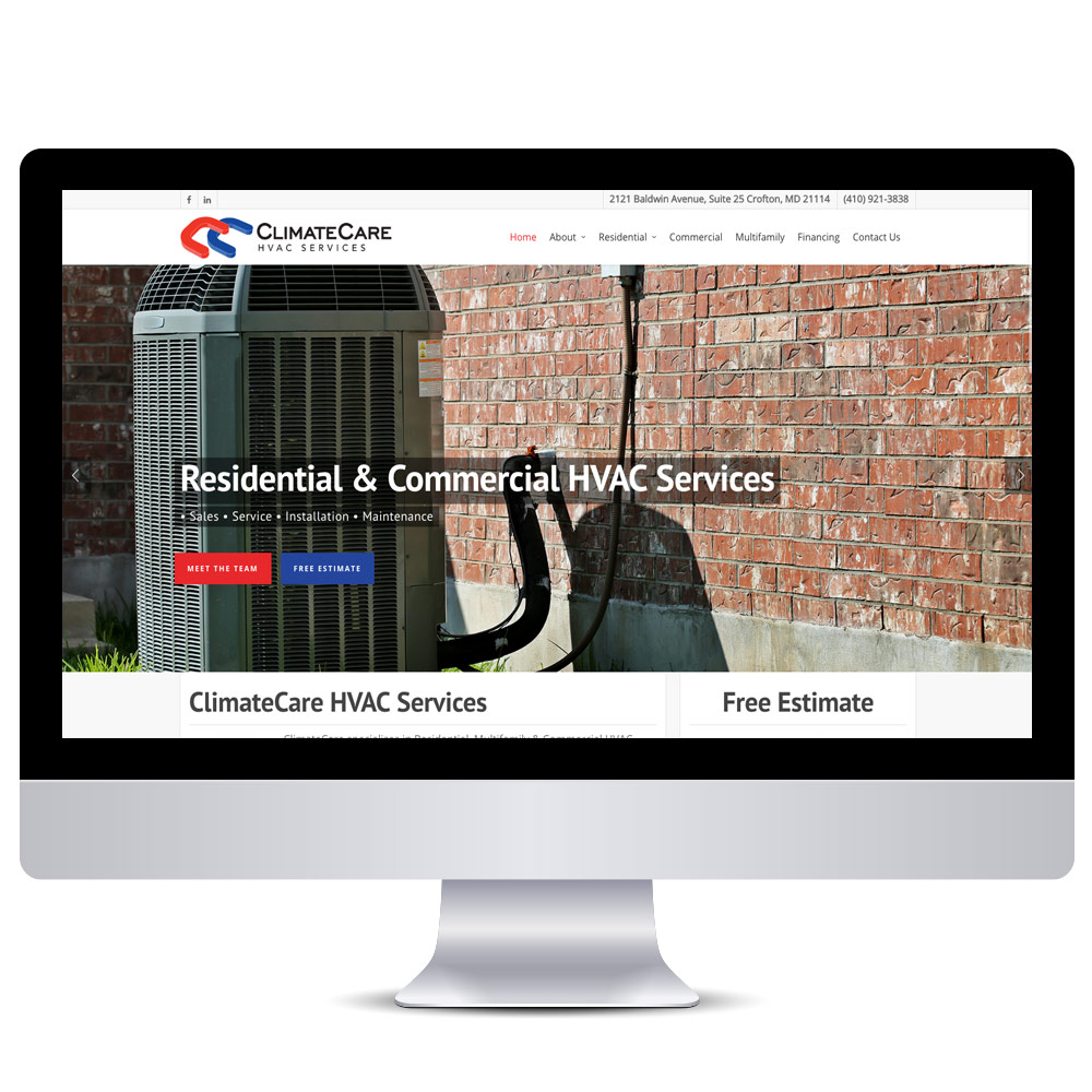 Wordpress Web Design - HVAC Websites