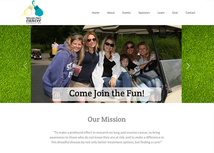 DeCesaris Prout Cancer Foundation Web Design