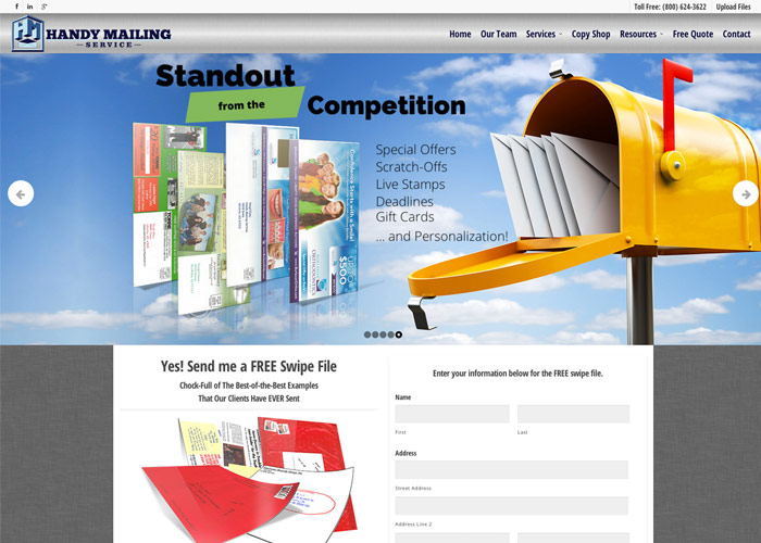 Handy Mailing Wordpress Website