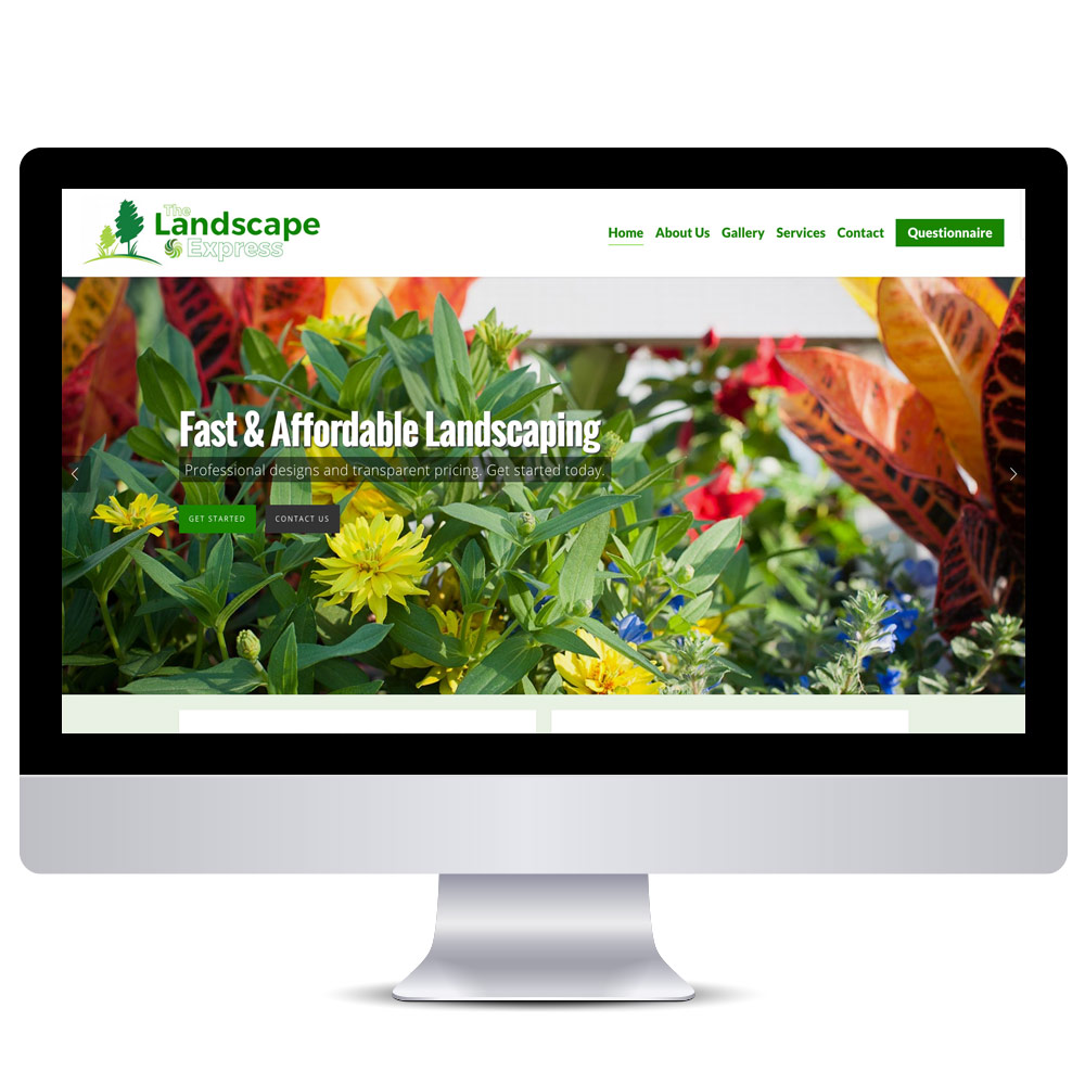 Wordpress Web Design - Landscape Website