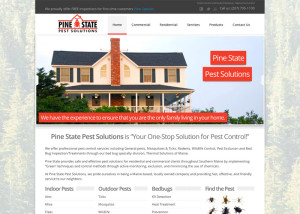 Pine State Pest Solutions Web Design
