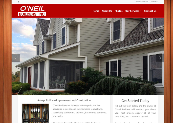 Ou0027Neil Builders Home Builders Web Design
