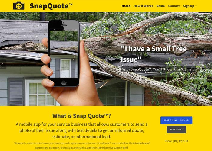 Snapquote Web Design