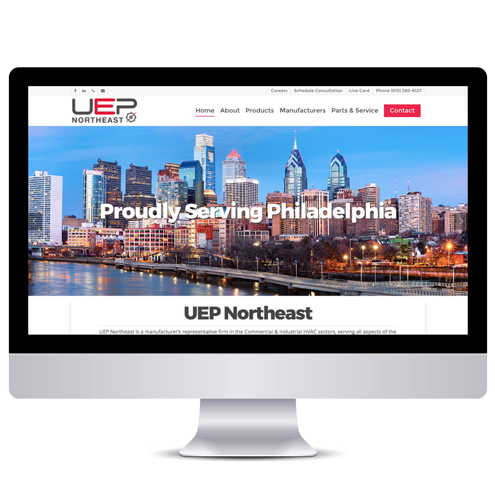 Wordpress Web Design - UEP Northeast