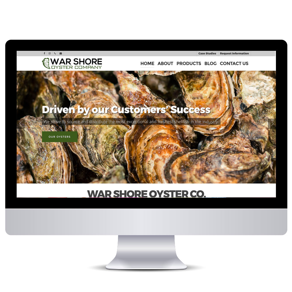Wordpress Web Design - War Shore Oyster Co